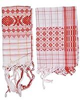 Mala's Collection Adult Assamese Traditional Gamocha (Pack of 2, Medium, Multi-Coloured)