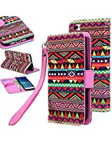 Mi 5 case, Mi 5 Flip cover, E LV Xiaomi Mi 5 Flip Folio Wallet Case Cover - Deluxe PU Leather Flip Wallet Case Cover for Xiaomi Mi 5 - TRIBAL