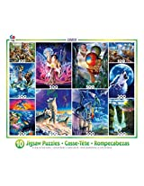 Ceaco 10 Glow In The Dark Jigsaw Puzzles