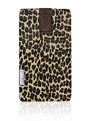Natural iPhone Cowhide Case (Leopard Print)