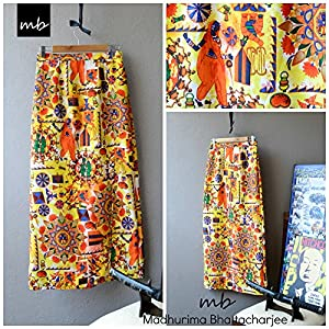 Madhurima Bhattacharjee Quirky Indian Printed Maxi Skirt