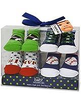 Baby Essentials Boys 4 Pack Sock Set - All Star