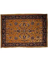 Agra Dari Woolen Carpet - 71'' x 48'' x 0.4'', Brown
