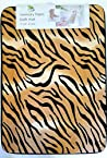 Super Soft and Absorbent Tiger Memory Foam Animal Print Bath Mat