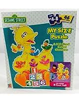 Big Bird My Size Puzzle 3 Feet, 46 Pieces.