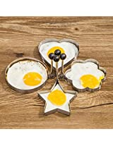 4pcs Form For EggsStainless Steel Fried Egg Mold Kitchen Tool Pancake Rings Cooking Egg Styling Tools Gadget