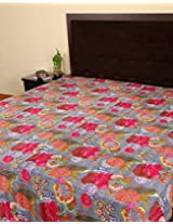 Fruit Printed Cotton Double Bed Bedspread