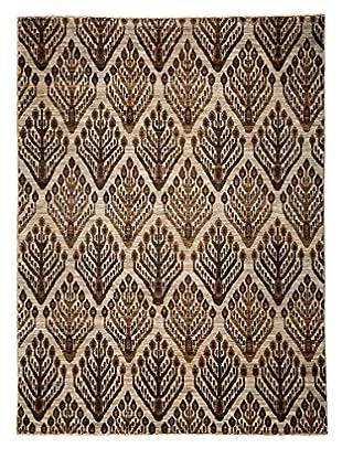 Darya Rugs Modern Oriental Rug, Brown, 5' 7