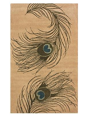 nuLOOM Peacock Feathers (Beige)