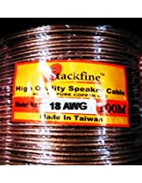 STACKFINE TRANSPARENT 18 AWG SPEAKER CABLE HEAVY DUTY 99.997 % OFC (Oxygen Free Copper)- 100 MTRS 18 AWG