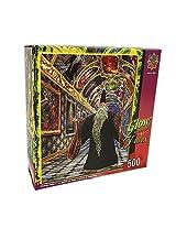 500 Piece Wizards Gallery Glow in the Dark Jigsaw Puzzle Art by Miles Pinkney