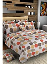 Bombay Dyeing Cotton Double Bed Bedsheet With 2 Pillow Covers