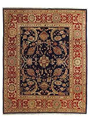 Bashian Rugs Hand Knotted One-of-a-Kind Sino-Oushak Rug, Dark Blue, 8' 2