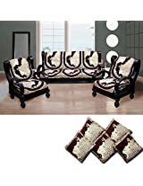 FURNISHING KINGDOM Velvet 11 Piece Sofa & Cushion Cover Set