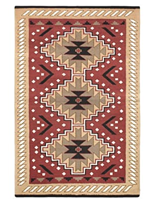 Hand-Knotted Royal Kazak Rug, Pink, 4' x 6'