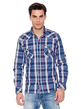 Pepe Jeans London Camisa Boniver (Índigo / Blanco / Rojo)