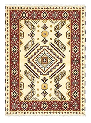 Hand-Knotted Royal Kazak Rug, Cream, 4' 8