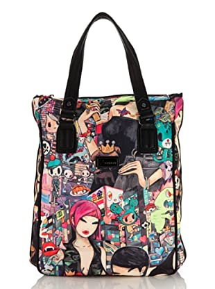 Tokidoki Shopping Bag Portrait schwarz