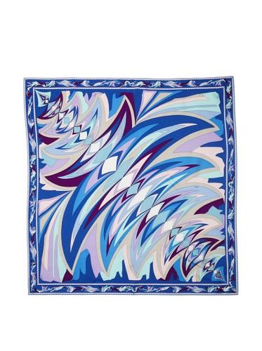 Emilio Pucci Women's Flare Square Scarf (Blue)
