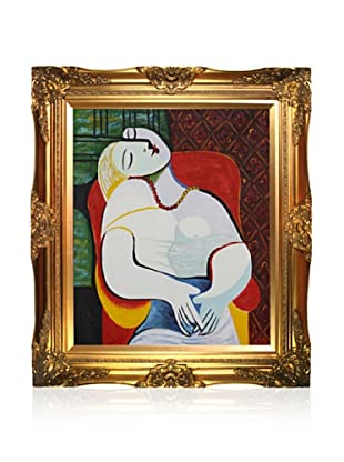 Pablo Picasso The Dream Framed Oil Painting, 24 x 24