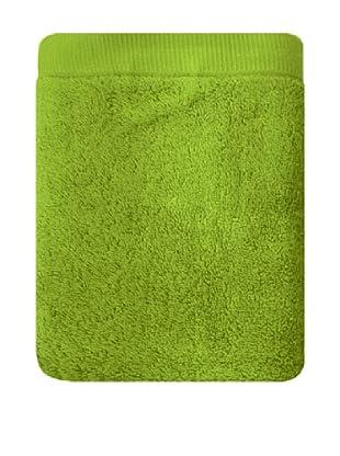 Manterol Set Toallas + Alfombra Baño Rizo Algodón (Verde)