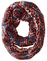RAMPAGE Women's Boho Light Weight Infinity Scarves, Orange, One Size