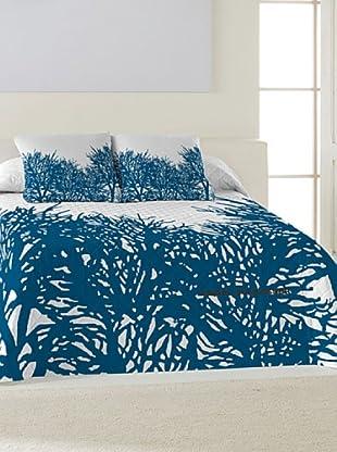 ANGEL SCHLESSER Colcha Bouti Arrecife (azul / blanco)