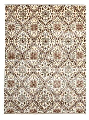 Darya Rugs Ikat Oriental Rug, Ivory, 5' 1