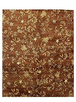 Bashian Rugs Hand Knotted Patan Rug, Chocolate, 8' 2