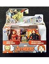 Marvel Avengers Age of Ultron Minimates Series 61 Iron Man & Black Widow Minifigure 2-Pack