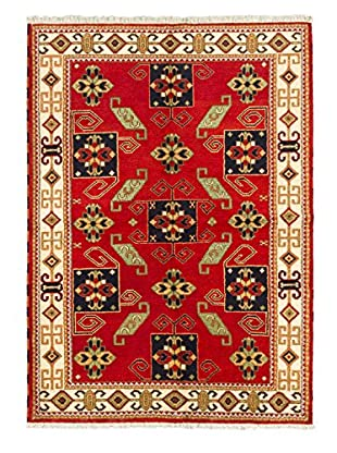 Hand-Knotted Royal Kazak Wool Rug, Red, 5' 8