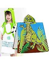 Frog Kids Super Soft Best Bathing Towel with Animal Printed Cap Hood Baby Birthday Return Gifts Bath robe