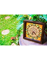 Footprints Forever Golden Mandala Clock