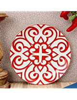 Ikat Urmi Dinner Plate Red from Vanras
