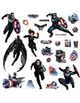 RoomMates Captain America Wall Decals (Multi Color)