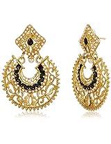 Ava Traditional Drop Earrings for Women (Golden) (E-VS-1884)