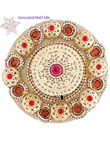 Ghasitaram Gifts Floating Light with 400 gms Kaju Katli