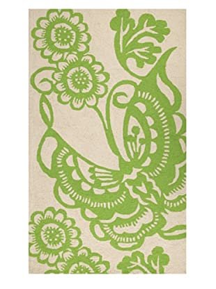 Trina Turk Butterfly Hook Rug3' x 5' (Green)