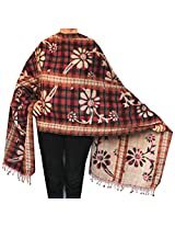Womens Paisley Boiled Wool Shawl Wrap Gift India Clothes (82 x 27 inches)