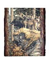 Walnut Hollow InGrained Art -  Lookout Tower by Wolves by Carl Brenders (Wall Art on Wood Panel)