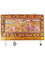 Kesaria Online Wooden Key Holder (5 cm x 3 cm x 13 cm)