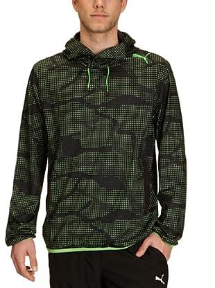 Puma Hoodie Tech (black-classic green)