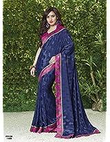 Neha Sharma in New Arrival Navy Blue Designer Saree FS124-1104