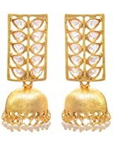 JFL- Jewellery for Less Exquisite n Ethnic Gold Designer Pearls Earrings for Women and Girls