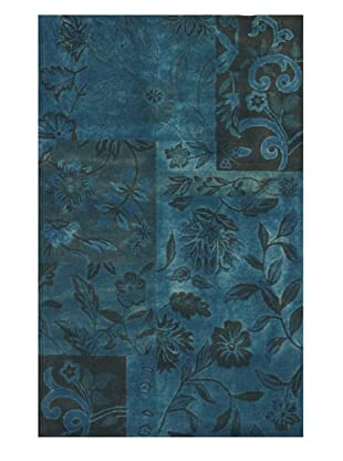 Kavi Handwoven Rugs Floral Patch Rug, Blue, 5' x 8'