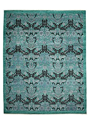 Darya Rugs Modern Oriental Rug, Turquoise/Aqua, 8' x 9' 10