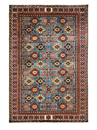 Darya Rugs Shirvan Oriental Rug, Light Blue, 6' 10