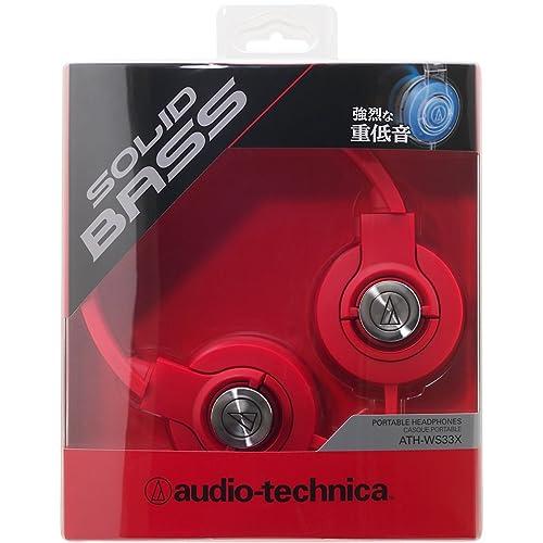 audio-technica SOLID BASS ATH-WS33X REDの写真02。おしゃれなヘッドホンをおすすめ-HEADMAN(ヘッドマン)-