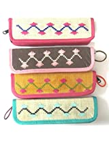 Set of 4 Pouch bag,Pencil Bag,Pencil Pouch,Pencil Box,Pencil Case,Wallet,Pen Case