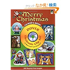 Merry Christmas CD-ROM and Book (Dover Electronic Clip Art)